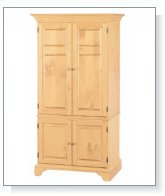 Natural Solid Pine Computer Armoire Kit