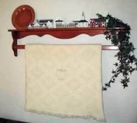 Country Quilt Rack Shelf Plans