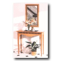 Hall Table & Mirror Woodworking Plan