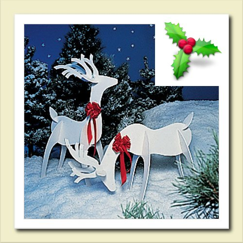 Rudolph Reindeer Wood Christmas Wooden Yard Ornament Outside