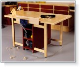 Drop-Leaf Workbench